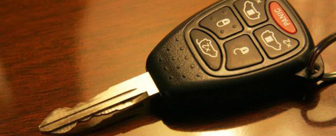 donating a car keys on desk