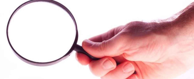 audit holding magnifying glass