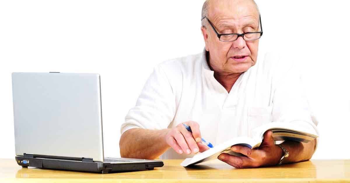 retirement man working